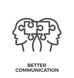 Better communication icon vector