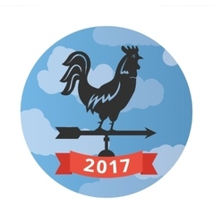 Weathercock new year of the rooster vector