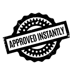 Approved instantly rubber stamp vector