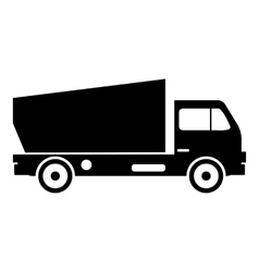 Lorry icon simple style vector