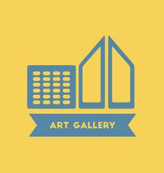 Art gallery building vector