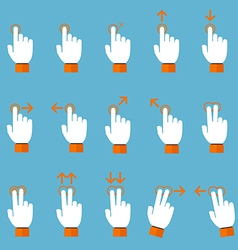 Gesture icons for touch devices vector