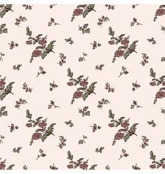 Seamless floral pattern brown flower vector