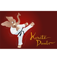 Karate dumbo vector