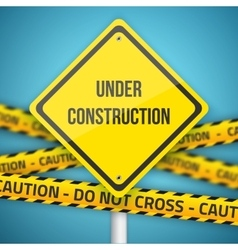 Photorealistic website under construction vector