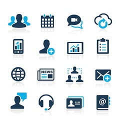Business technology icons azure series vector