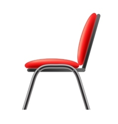 Single red office chair vector