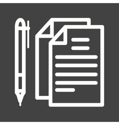 Documents and pen vector
