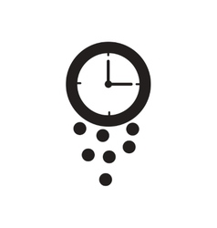 Flat icon in black and white coin watch vector image