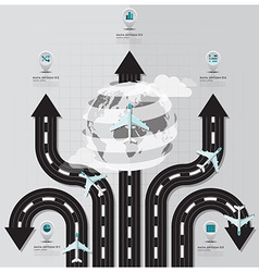 Travel and journey runway business infographic vector