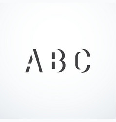 Abstract abc letters vector