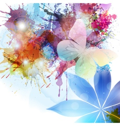 Abstract background in grunge style with flower vector image vector image