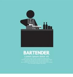 Black Symbol Bartender vector image vector image