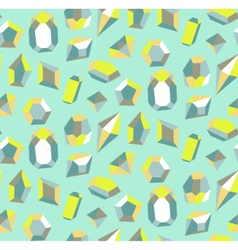 Colorful gems as seamless pattern vector