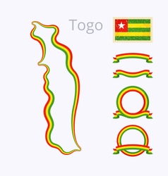Colors of Togo vector image vector image