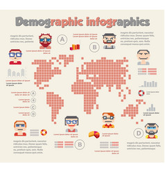 demographic infographic with people vector image vector image