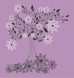 iced tree vector image
