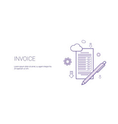 invoice web banner with copy space business vector image