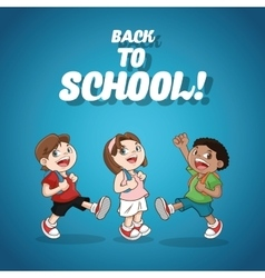Kids boys girl back to school design vector