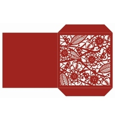 Laser cut template vector image
