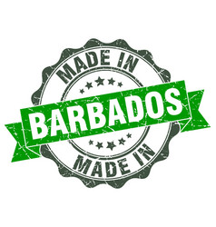 Made in barbados round seal vector