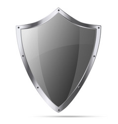Medieval knight shield isolated vector