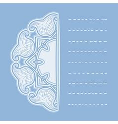 Oriental pattern in blue colors vector