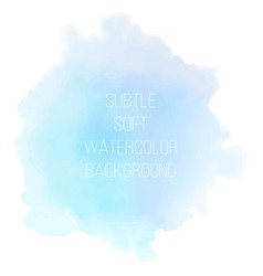 painted sea blue watercolor background vector image vector image