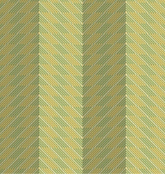 Retro fold green striped chevron vector