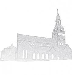 Riga dome church vector