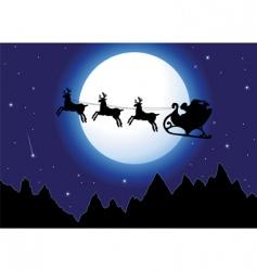Santa and mountains vector image vector image