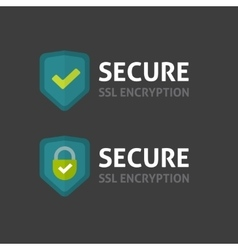 Secure connection label on dark background vector image