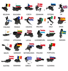 simple color flags all european union countries on vector image vector image