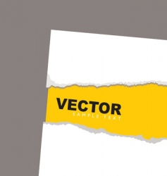 torn paper revela yellow vector image vector image