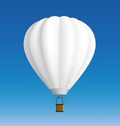 White balloon stock vector
