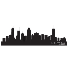 Montreal canada skyline detailed silhouette vector