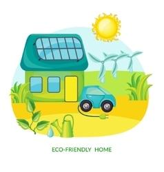Ecology Cartoon Template vector image
