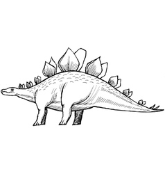 stegosaurus vector image