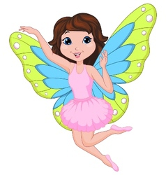 Beautiful fairy cartoon vector