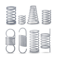 Spiral flexible wire springs of compression vector