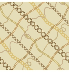 Seamless background with chains vector