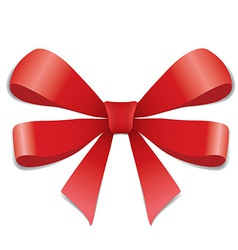 Red ribbon isolated on white vector