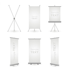 Roll up banner vector image