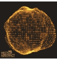 Abstract mesh distorted sphere made of vector image