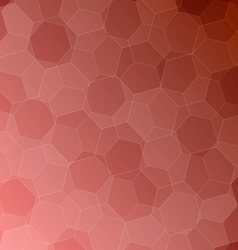 Abstract red background with hexagons vector image