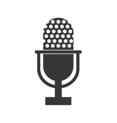 Microphone icon retro technology design vector
