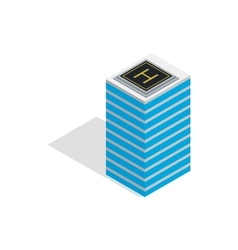 Helicopter landing pad icon isometric 3d style vector