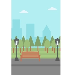 Background of park with streetlight vector