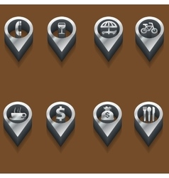 black and white travel icons isometric vector image