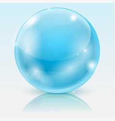blue glass ball shiny 3d sphere vector image vector image